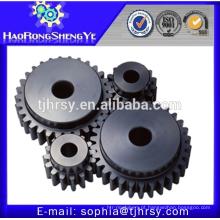 Processamento de cozedura cnc usinagem de plástico / aço / nylon spur gear