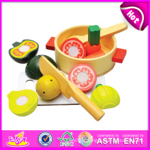 2014 nouveau jouet de coupe en bois pour enfants, jouet de jeu de rôle coupe jouet pour enfants, jouet de coupe jouet de cuisine prétendre pour bébé W10b082