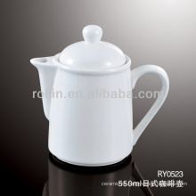 healthy durable white porcelain oven safe japan style coffee pot with lid