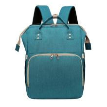 Bolsa de mochila de lona elegante para mamãe de viagem para bebê