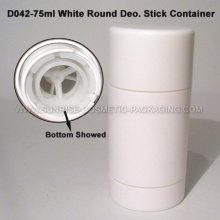 75g White Round Shape Deo. Stick Container
