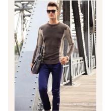 Men′s Cashmere Sweater Round Neck Patterned 16brdm010