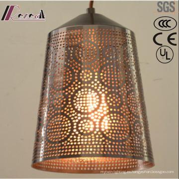 Lámpara colgante hueca de metal individualidad antigua con comedor