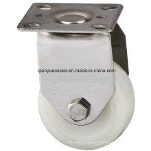 Rouleau en nylon / PP de 50 mm en acier inoxydable, roulette rigide