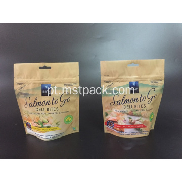 Papel Kraft Resealable Stand Up Pouches