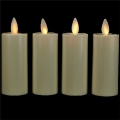 Battery Operated ivory moving wick plastic luminara votive candle