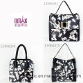 Brand Design Ladies PU Handbags Flower Printing Bag (LY060281)