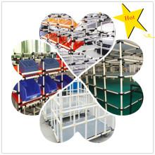 Sistema de rack DIY com tubo revestido de plástico CE de alta qualidade
