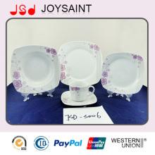 OEM Calidad Cuadrado Forma 18PCS Dinner Set Dinner Cup con cerámica de porcelana