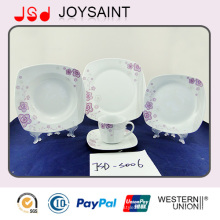 OEM Quality Square Shape 18PCS Dinner Set Dinner Cup with Porcelain Ceramic