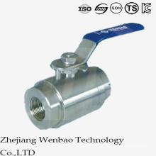 Válvula de bola flotante de la forja de alta presión 2PC con la manija manual