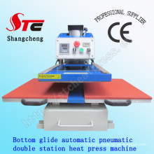 Bottom Glide T-Shirt Heat Transfer Machine 50*60cm Automatic Pneumatic Double Station Heat Press Machine Automatic T Shirt Printing Machine Stc-Qd07