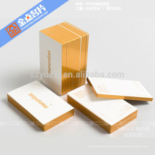 Eco-frinedly impresión offset tarjetas de visita de lujo personalizado