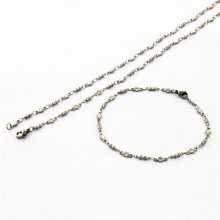 Women fashion stainless steel jewelry sets for sale