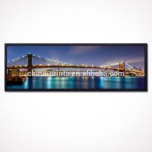 Cópia da lona da foto da paisagem da cidade / arte da parede da lona de New York / pintura da lona da ponte de Brooklyn
