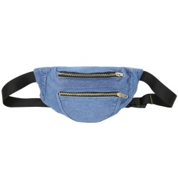 Custom Jean Fanny Pack With Embroidery Logo