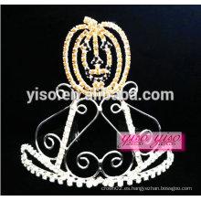 Tiara cristalino simple de la tiara del metal de la calabaza