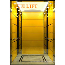 Titanium Gold and Etched Mirror Residential Passenger Elevator