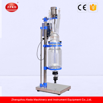 Lab Jacketed Stirred Two Layer Glass Reactor