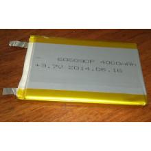 Bateria Li-Polymer de 3.7V 4000mAh 606090 para dispositivos eletrônicos portáteis