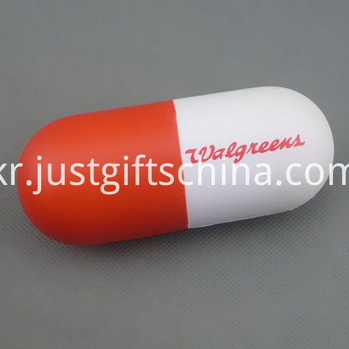 Promotional Capsule Shaped PU Stress Reliever - PMS Matched (2)