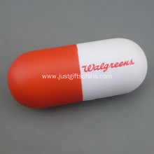 Promotional Capsule Shaped PU Stress Reliever