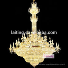 Modern Chandelier Light & Big Crystal Regency Chandelier para fiesta de eventos