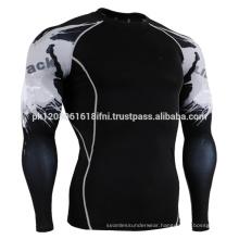 mens body building skin tight long sleeve rash guard
