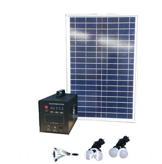solar lighting system for home lighting TV fan loading