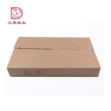 Novo pacote de caixa de papelão ondulado plana reciclável personalizado