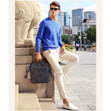 Men′s Cashmere Sweater with V Neck 16brdm006-2