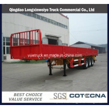 Triple Axles 40tons Fence High Cargo Side Wall Semi Trailer
