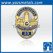 custom made high quality blue 3D military badge of county