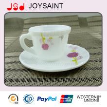 Taza y platillo de café Opal Glass 190cc