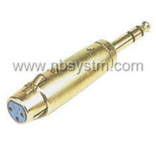Conector de microfone 3P para adaptador de plugue steoreo de 6,35 mm