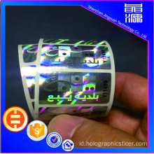 Label Tampilan Hologram 3d