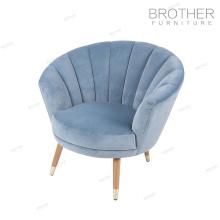 Meubles rembourrés commerciaux café canapé chaise salle à manger avec des jambes en bois