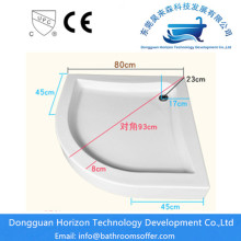 Shower acrylic base shower floor pan