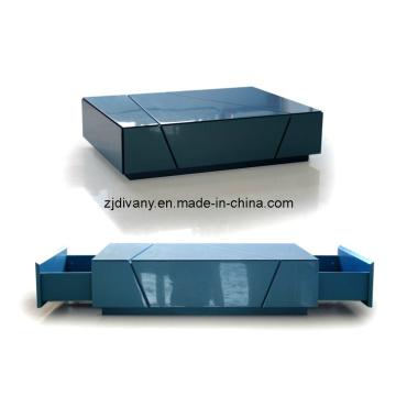 Moderne brillant haute peinture Table basse en bois