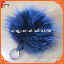 Beautiful Raccoon Fur Ball Keychain