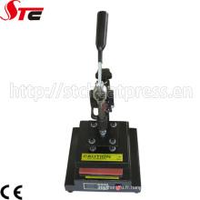 Machine d'impression gravante en refief de logo de sublimation manuelle (STC-TB01)