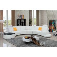 Современные U форму кожаный диван (958)