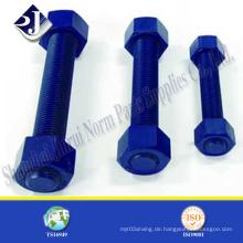 Bolzen mit blauer PTFE-Beschichtung mit A194 2h Muttern