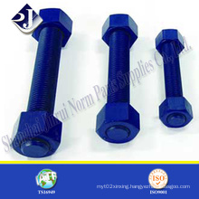 Stud Bolt with Blue PTFE Coating with A194 2h Nuts