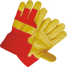 Golden Cow Grain Leather Patched Palm Work Glove