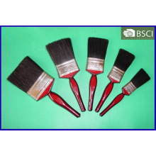 Shsy-2002L Red Wooden Handle Black Bristle Paint Brush