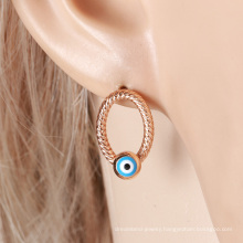 26160 xuping personalized elegant jewelry evil eye young people stud earrings light weight gold earring with no stones