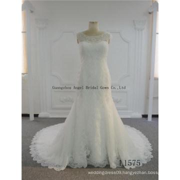 2017 Mermaid Lace Beaded Bridal Wedding Gown