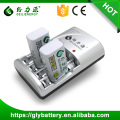 GLE-802 AAA AA NICD NIMH 2pcs 9V Rechargeable Battery Charger