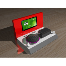 Acrylic material speaker counter display with logo lighting